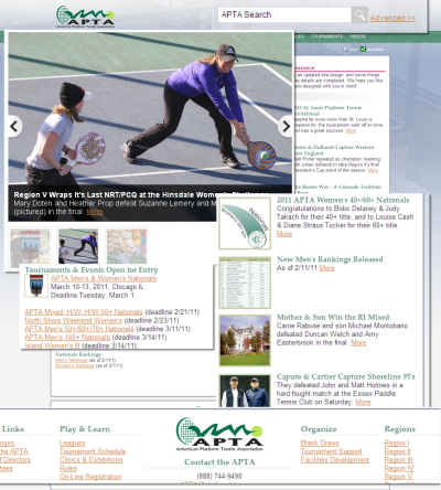 New APTA Home Page
