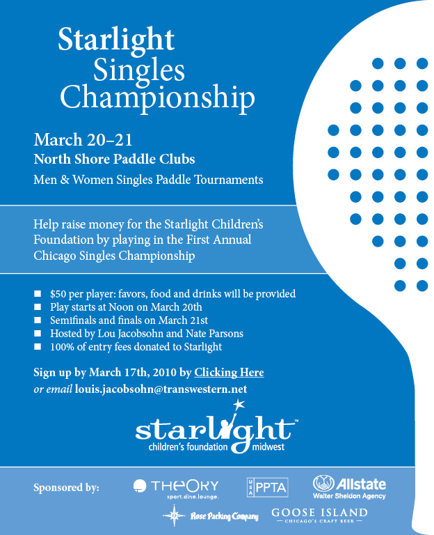Starlight Singles Championship Invitation